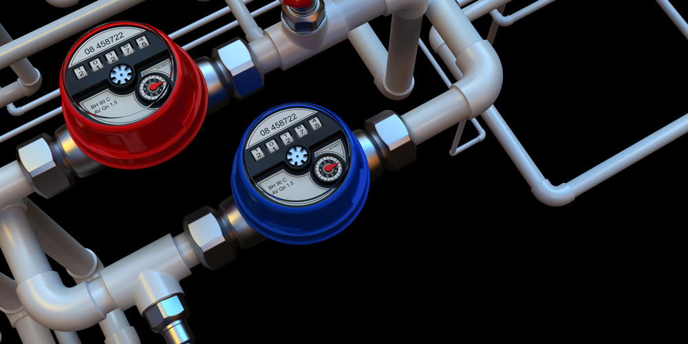 hot and cold water meter